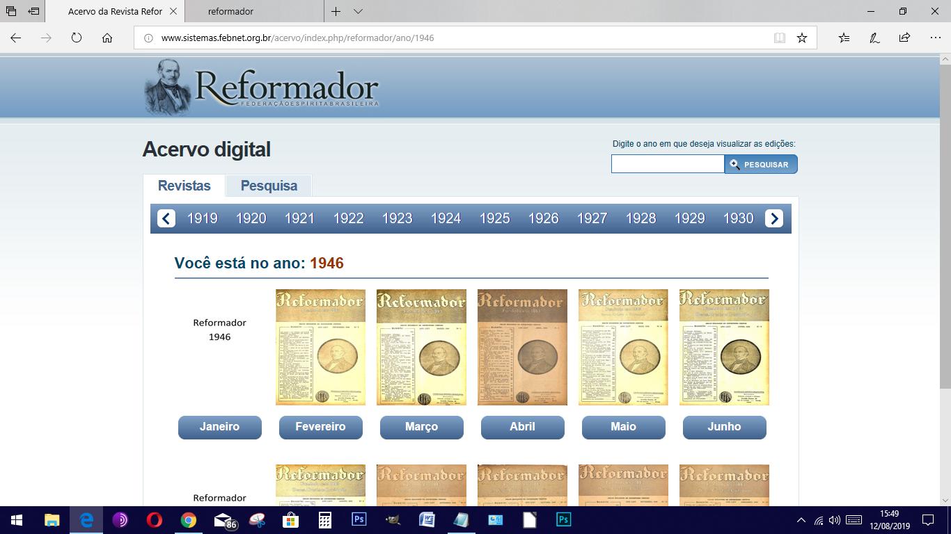 """Acesso à revista """"O Reformador"""""""